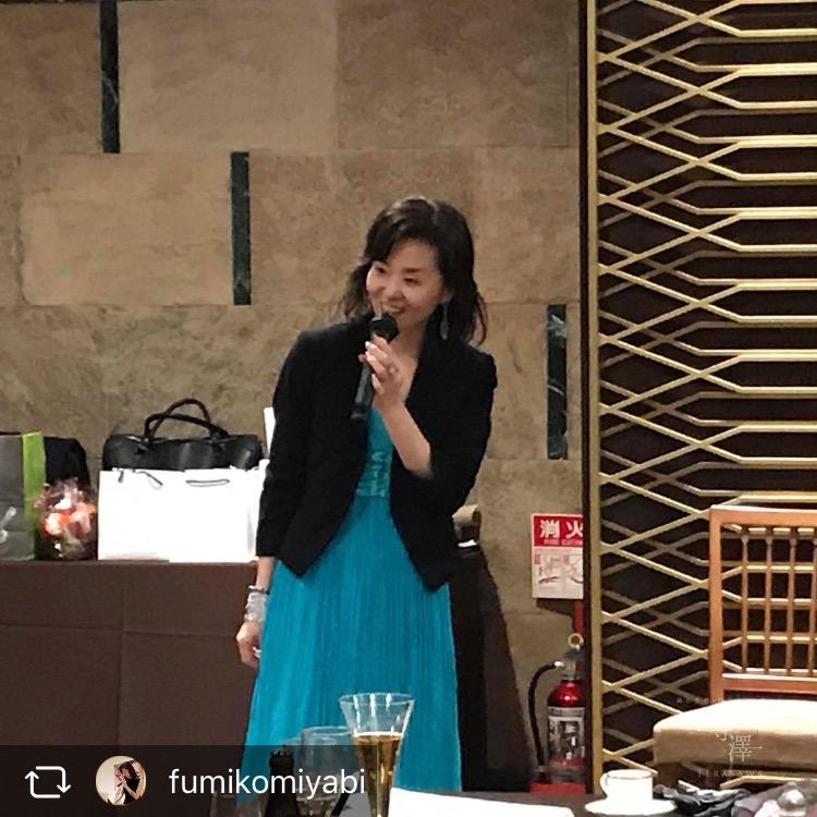 寺澤の美容鍼を受けられているフリーアナウンサー雅ふみこさん
